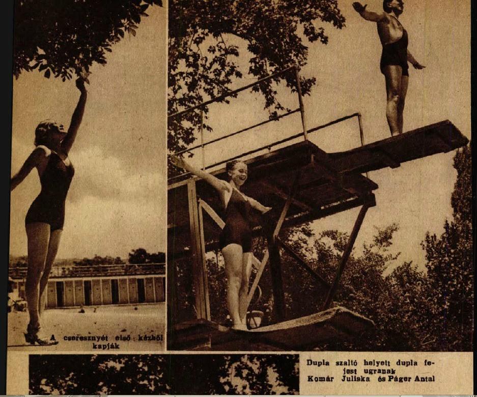 Így nyaralnak ők; a Színházi élet 1936/27. számának képriportja