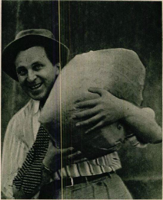 Téni cementes zsákot cipel (Színházi Élet 1933 23. sz.)