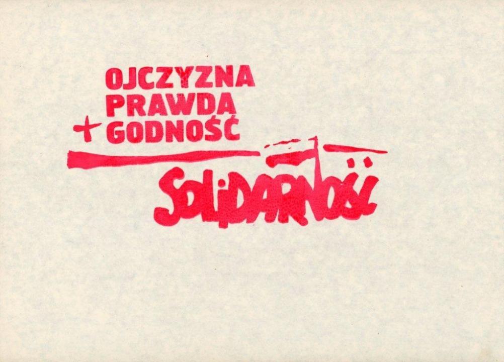 Haza Igazság Méltóság Szolidaritás Ellenzéki szórólap 1980-1981, Forrás: ECS/T/ASP/122
