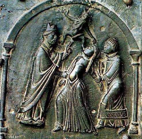 Ördögűzés, illusztráció a veronai szent Zénó bazilikából