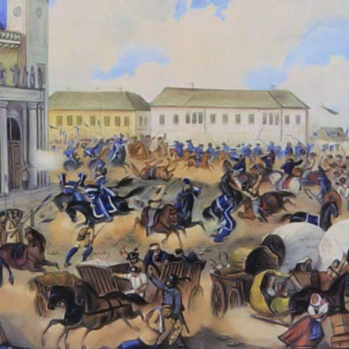 Július 17: váci csata, Váczi Közlöny, váci honvéd emlékmű