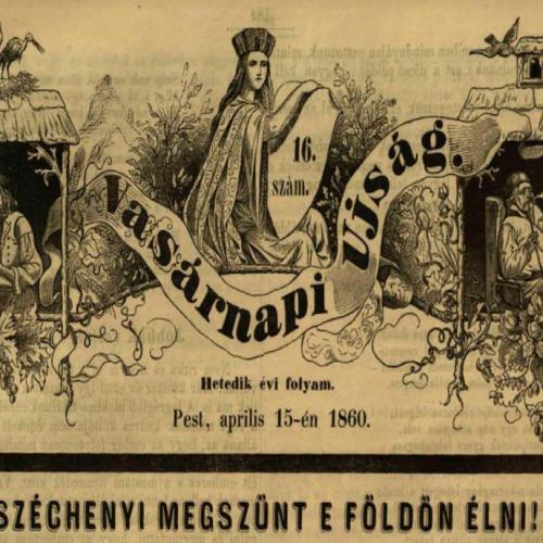 Széchenyi haláláról a Vasárnapi Ujságban