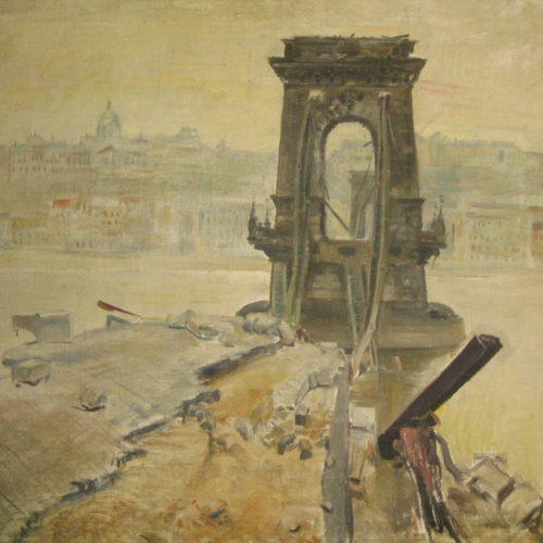 A rommá lőtt Budapestről nyílt művészeti kiállítás