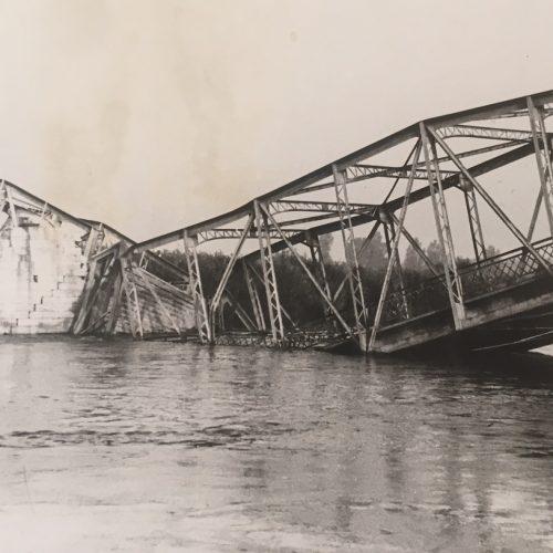 Egy hídrobbantás képei – Letenye, 1952