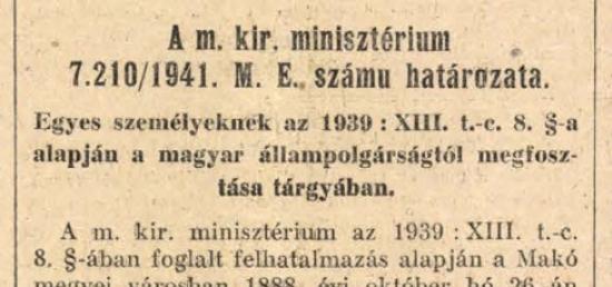 Két emigráns egy minisztertanácson – Eckhardt Tibor és Vámbéry Rusztem állampolgárságának ügye