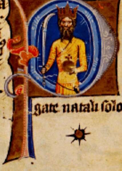 Attila király a Képes Krónikában. OSZK