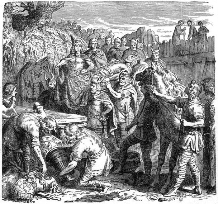 Heinrich Leutemann - Alarik temetése 1895. (Wikipédia)